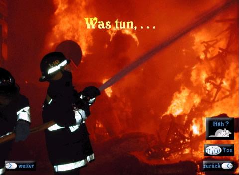 Was tun, wenn es brennt?